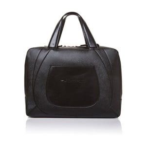 Kožená kabelka do ruky Marta Ponti Bowling, čierna