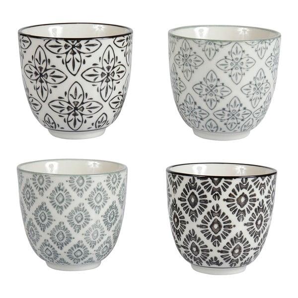 Sada 4 porcelánových hrnčekov Zellige
