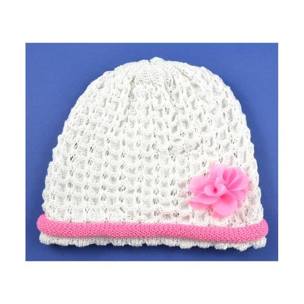 Dievčenská čapica Rulon, biela