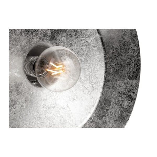 Biele nástenné svietidlo s detailom v striebornej farbe Bulb Attack Cinco Basic, ⌀40 cm