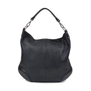 Čierna kožená kabelka Roberta M Pessio