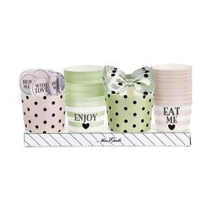Darčekové balenie košíčkov a ozdôb na muffiny, zeleno-ružová