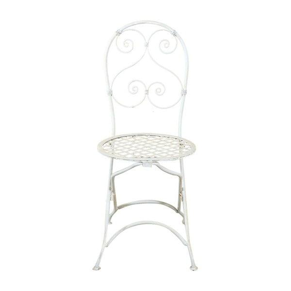 Biela záhradná skladacia stolička Crido Consulting Almira