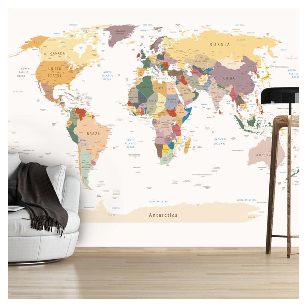 Veľkoformátová tapeta Bimago World Map, 300 × 210 cm