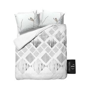 Obliečky z keprovej bavlny Dreamhouse Lanscape White, 200x220cm