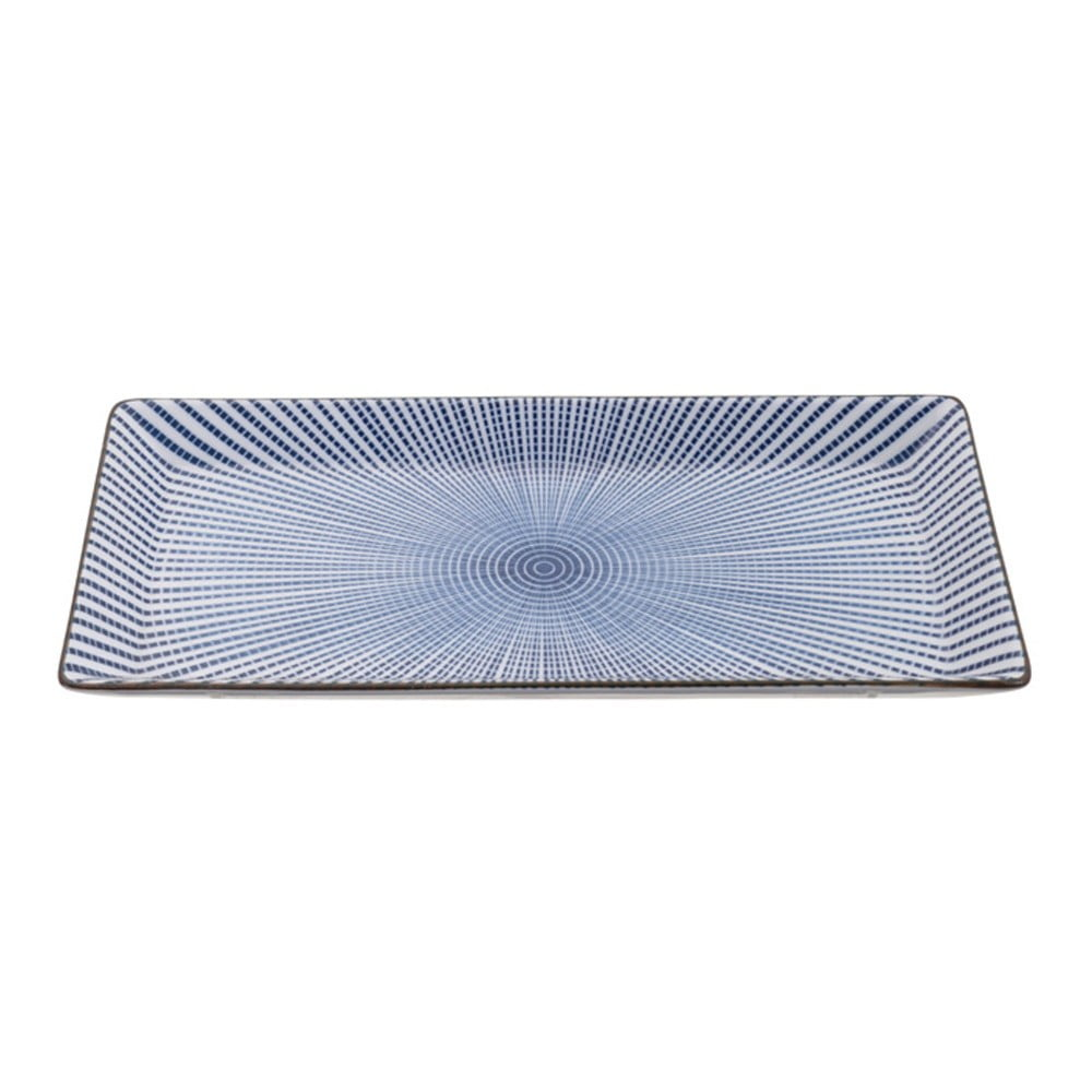 Modrý porcelánový tanier Tokyo Design Studio Yoko, 21 x 11 cm