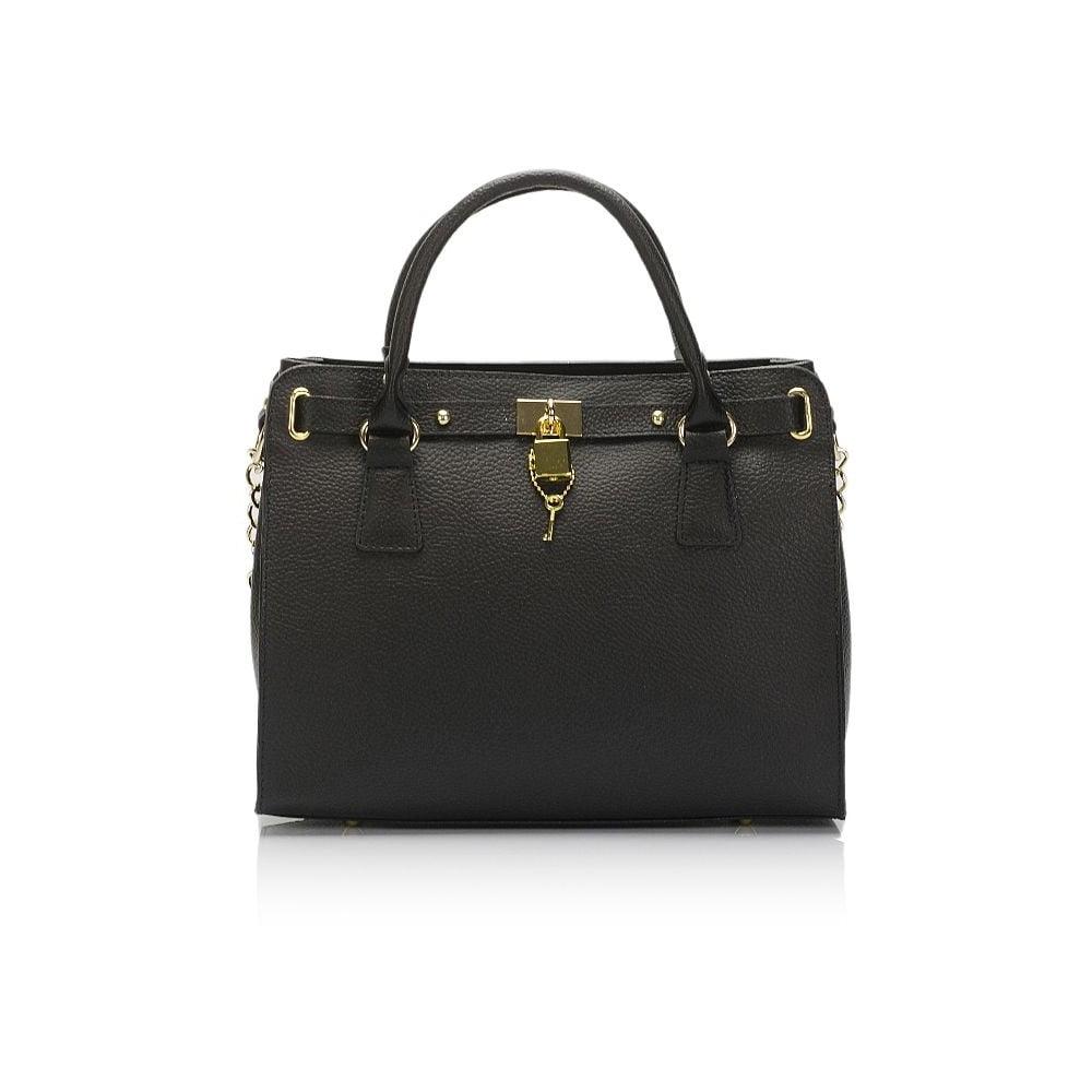 Čierna kožená kabelka Giulia Massari Clementine