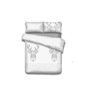Flanelové obliečky na dvojlôžko AmeliaHome My Deer Friend, 160×200 cm