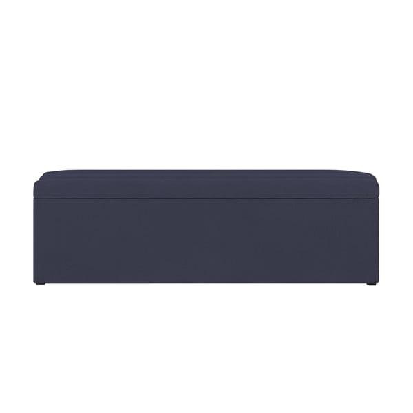 Tmavomodrý otoman s úložným priestorom Cosmopolitan Design LA, 160 x 47 cm
