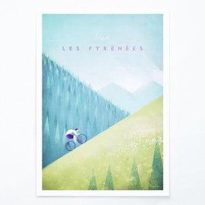 Plagát Travelposter Les Pyrenees, A3