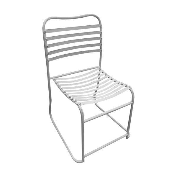 Kovová stolička White Iron