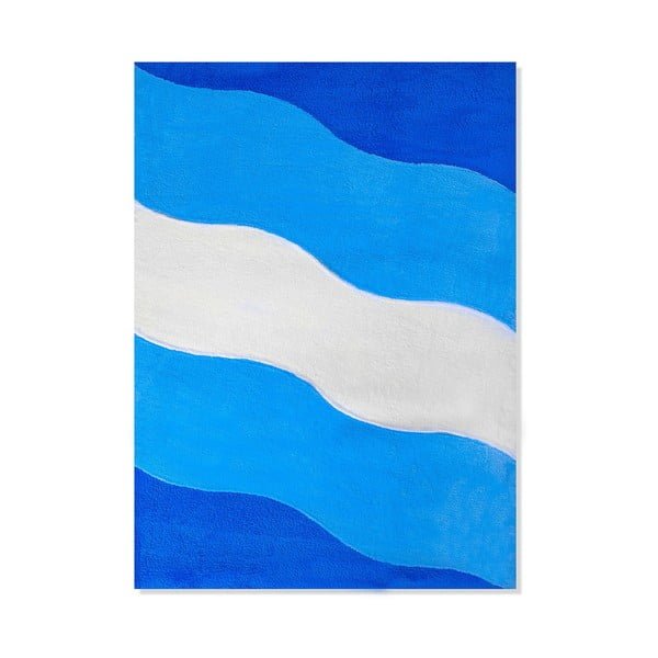 Detský koberec Mavis Blue Waves, 100x150 cm