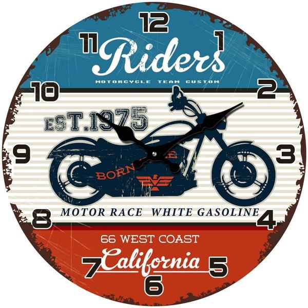 Sklenené hodiny California, 34 cm