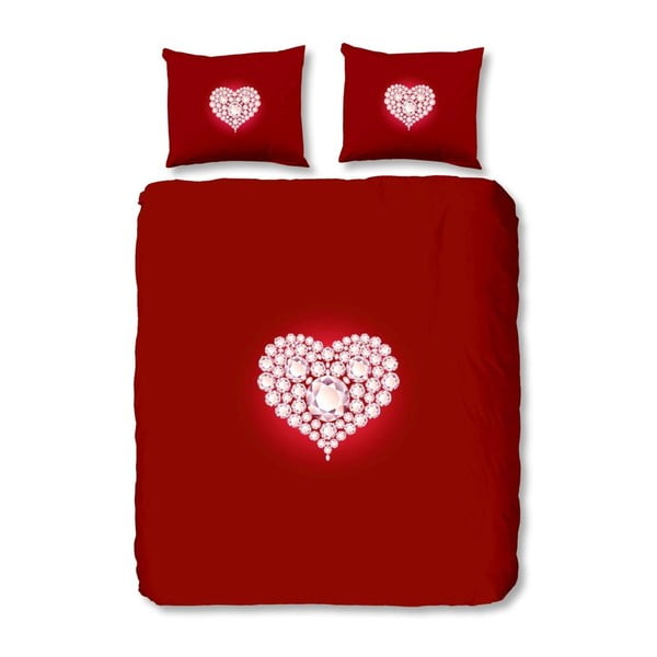 Obliečky Diamonds Red, 140x200 cm