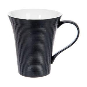 Hrnček Stripes Dark Black, 400 ml