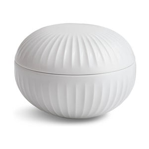 Biela porcelánová dóza Kähler Design Hammershoi, ⌀ 11,5 cm