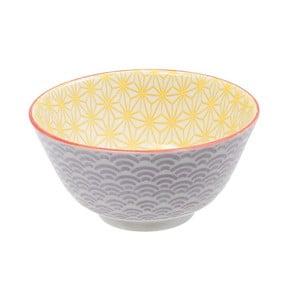 Fialovo-žltá porcelánová miska Tokyo Design Studio Star, ⌀ 12 cm