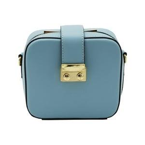 Modrá listová kabelka z pravej kože Andrea Cardone Pacco