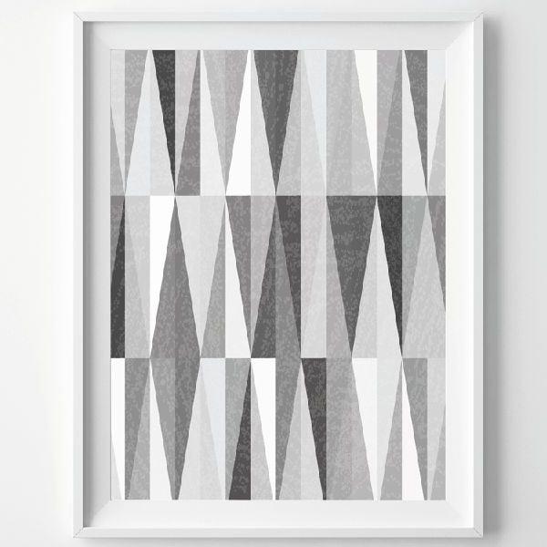 Plagát Monochrome Grey, A3