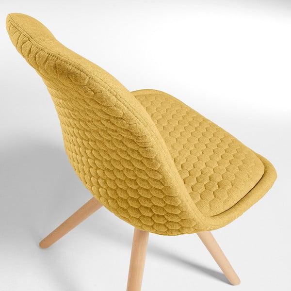 Sada 4 horčicovožltých jedálenských stoličiek La Forma Lars