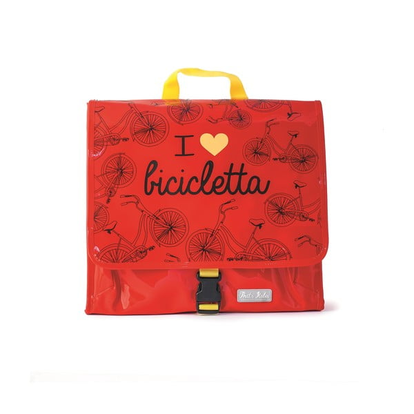 Messenger taška na bicykel I ♥ Bicicleta, červená