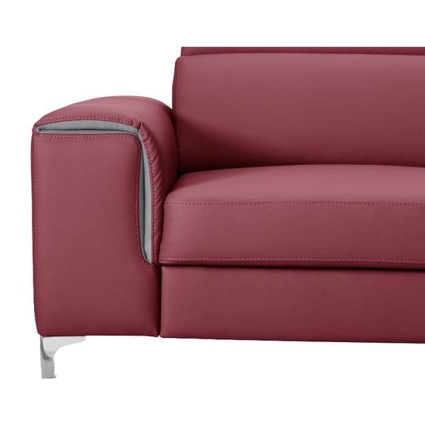 Ružová pohovka Modernist Serafino, ľavý roh