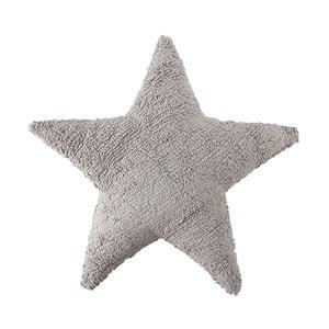 Svetlosivý bavlnený ručne vyrobený vankúš Lorena Canals Star, 54 x 54 cm