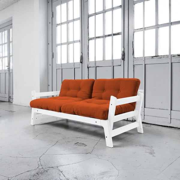 Rozkladacia pohovka Karup Step White/Orange