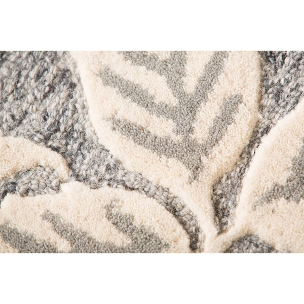 Vlnený koberec  Loxley 120 x 170 cm, sivý