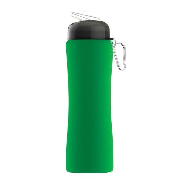 Športová fľaša Sili-Squeeze, zelená, 650 ml