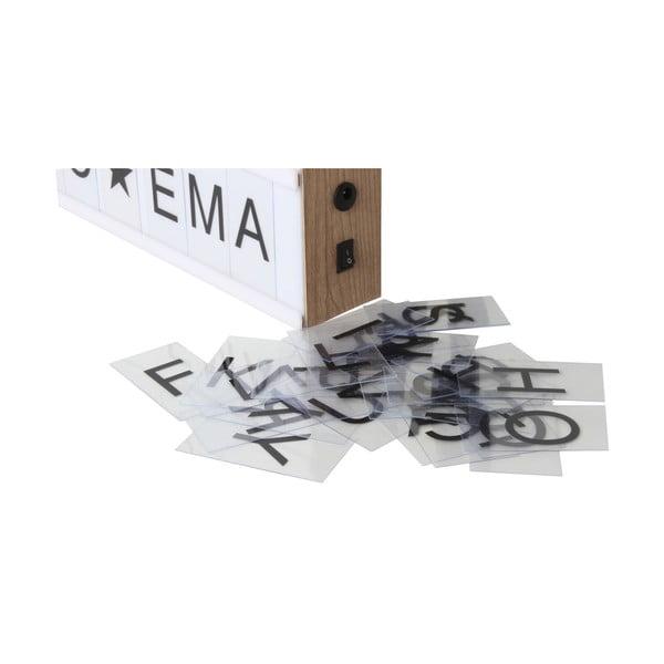 Svetelný box so 130 znakmi Opjet Boite, 50x15cm