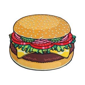 Plážová deka v tvare burgeru Big Mouth Inc., ⌀ 152 cm