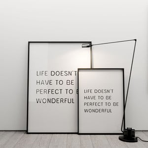 Plagát Life doesn´t have to be perfect to be wonderful, 50x70 cm