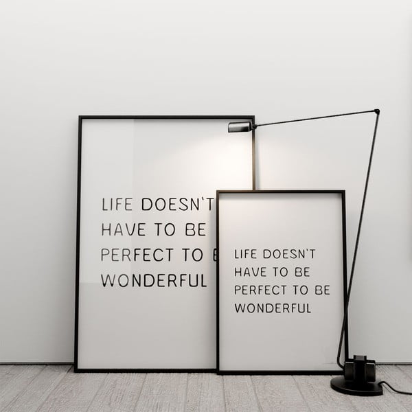 Plagát Life doesn´t have to be perfect to be wonderful, 100x70 cm