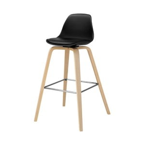 Čierna barová stolička Actona Zaki