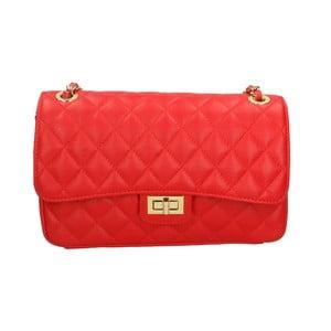 Červená kožená kabelka Roberto Buono Pamela