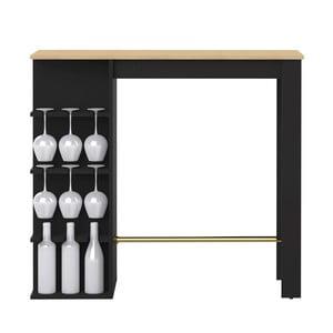 Čierny jedálenský stôl s barom Symbiosis Viso