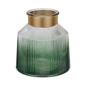 Zelená sklenená váza Native Verde, ⌀19 cm