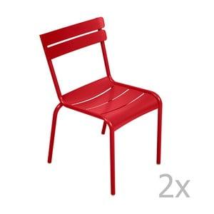Sada 2 sýtočervených stoličiek Fermob Luxembourg
