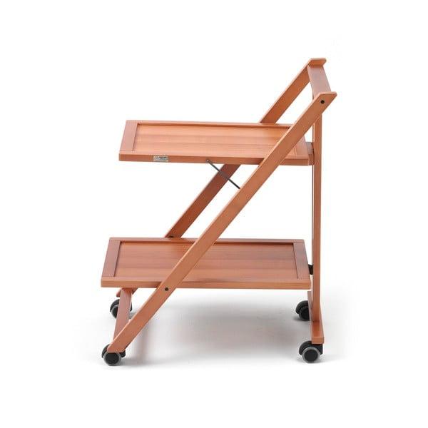 Pojazdný servírovací stolík z bukového dreva Arredamenti Italia Simp