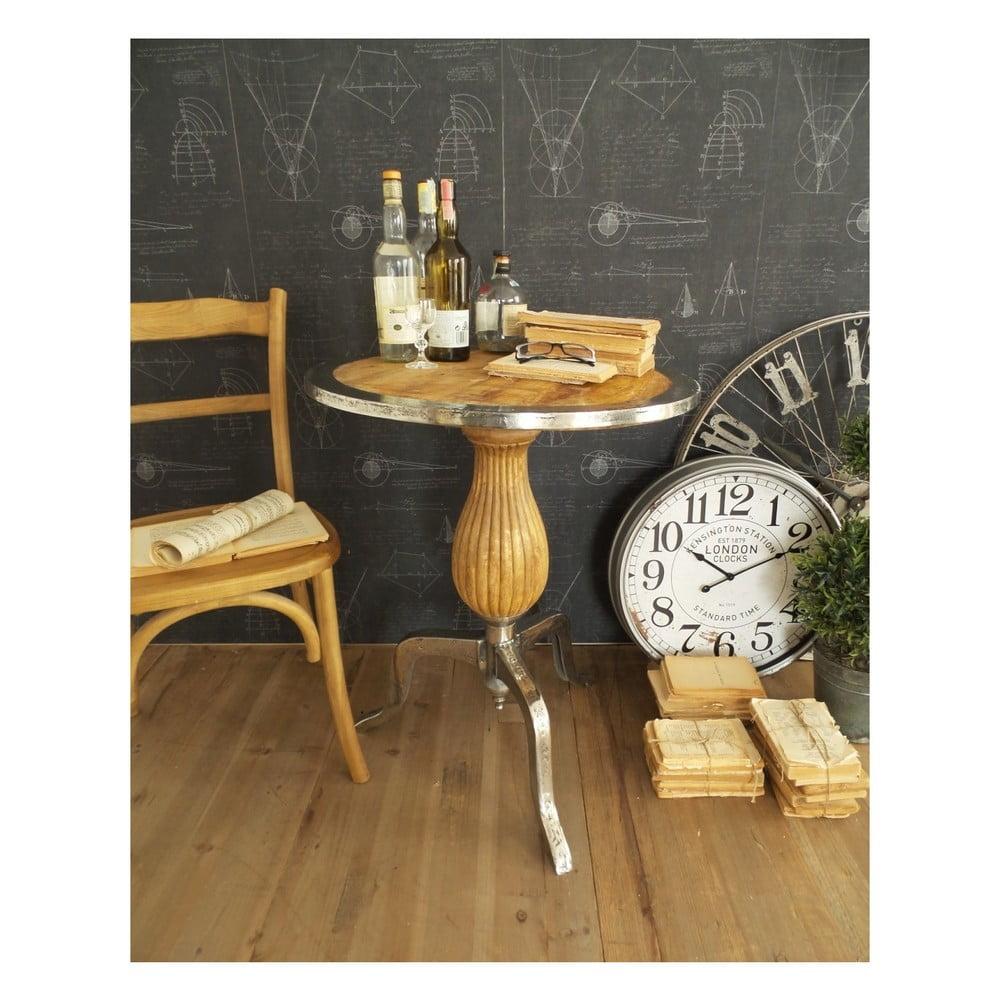 Kávový stolík s doskou z mangového dreva Orchidea Milano, ⌀ 63 cm
