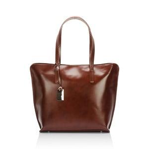 Hnedá kožená kabelka Giorgio Costa Gerogina