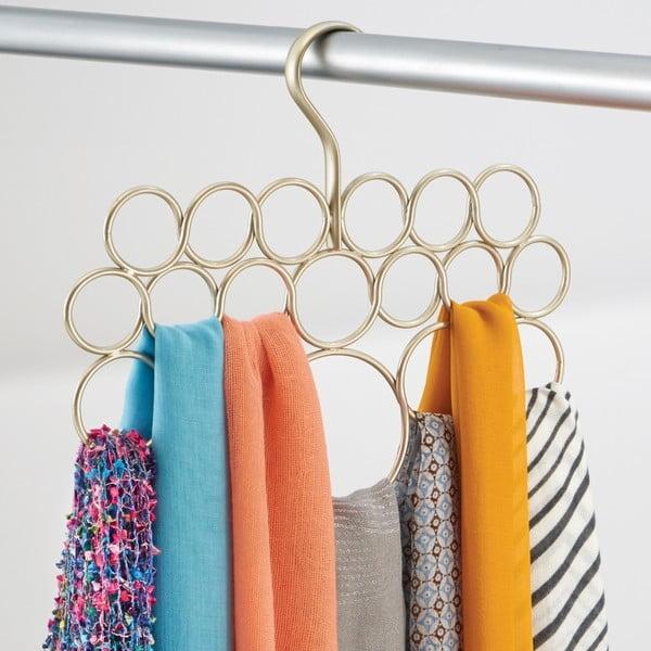 Zlatý závesný držiak na  uteráky, šatky a oblečenie Axis
