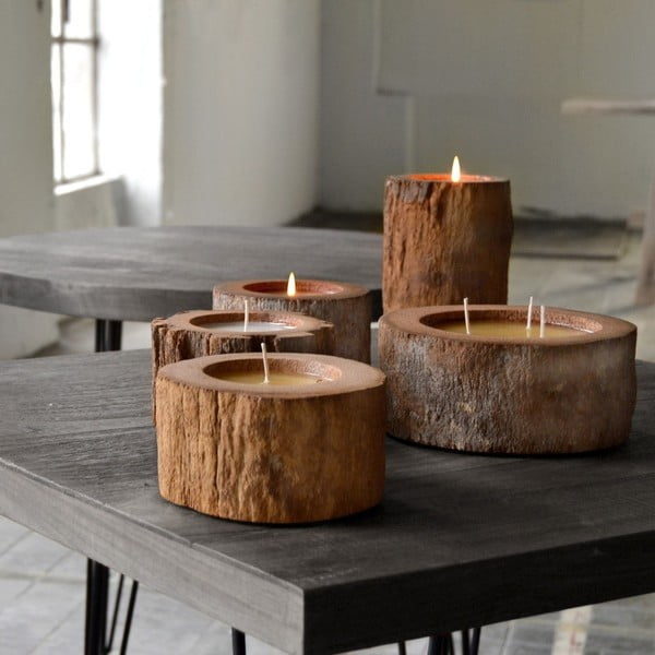 Palmová sviečka Legno Bordeux s vôňou exotického ovocia, 80h horenia U Kubistu
