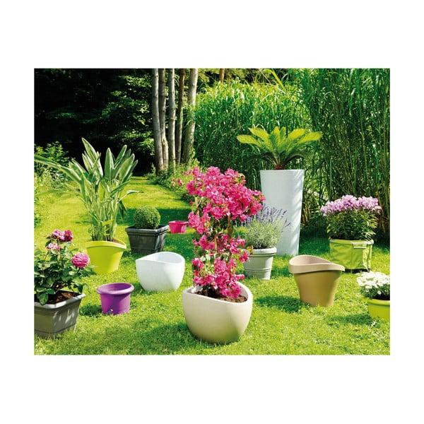 Záhradný kvetináč Globe 30 cm, svetlý