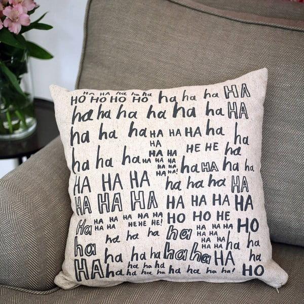 Obliečka na vankúš Laughter, 45x45 cm
