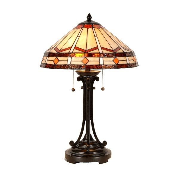 Tiffany stolová lampa Cream