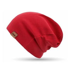 Červená úpletová čiapka DOKE