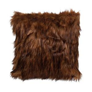 Tmavohnedá obliečka na vankúš Clayre & Eef Fur, 40 x 40 cm