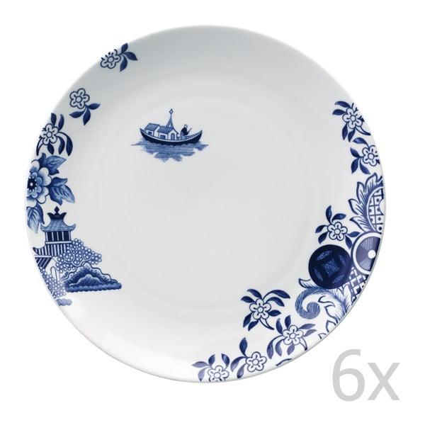 Sada 6 porcelánových tanierov Willow Love Story, 27 cm